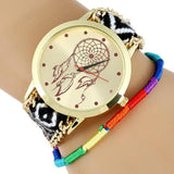 NEW Hippie Native American Atrapasueno Lace Women Watch MEXICAN Fashion woman wristwatch Fabric Bracelet  watch