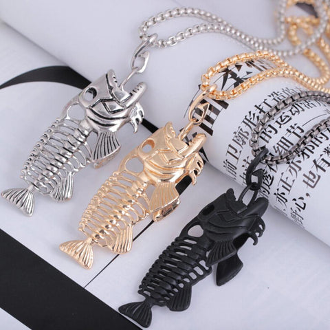 Collier Squelette de Poisson
