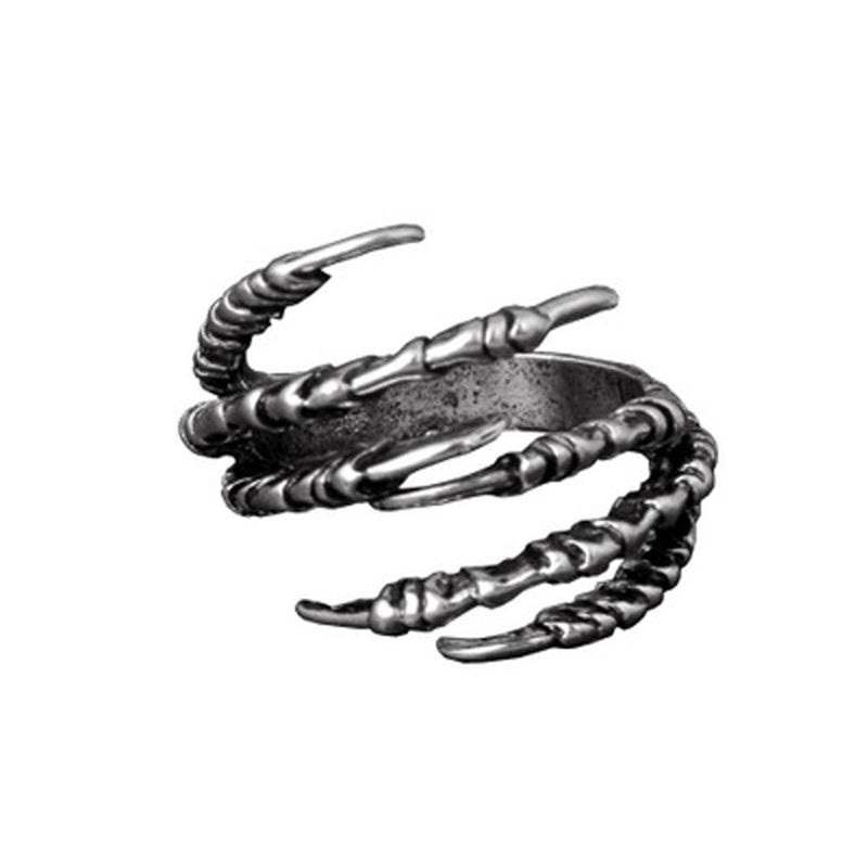Fashion Men's Opening Talon Rings Mystery Jewelry Gothic Punk Antique Copper Eagle Claw Ring Royaume du Bijou