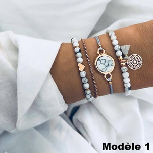 Charmant Ensemble de Bracelets Fashion (lot de 4) Royaume du Bijou Modèle 1