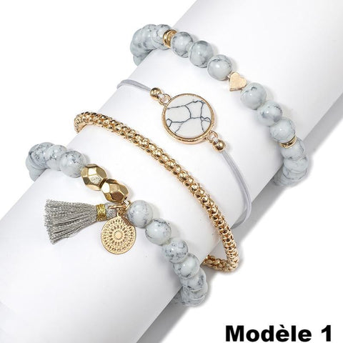 Charmant Ensemble de Bracelets Fashion