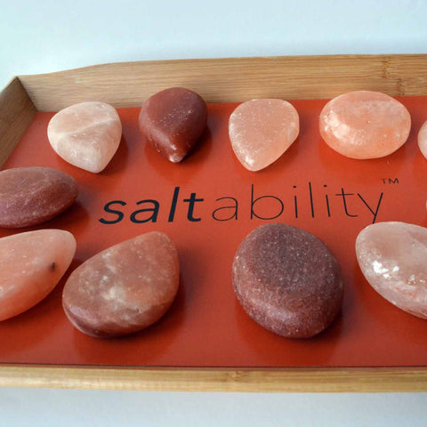 Bamboo Warming Tray with 20 stones for Himalayan Salt Stone Massage