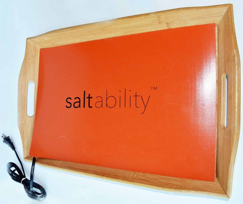 Bamboo Warming Tray for Himalayan Salt Stone Massage (without stones)