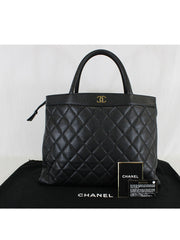 CHANEL <br> Vintage Quilted Shopping Tote