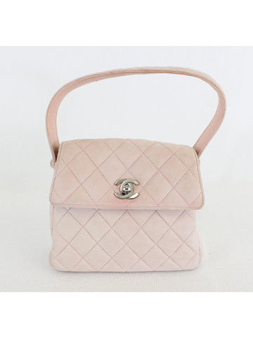 CHANEL <br> Quilted CC Logo Hand Bag