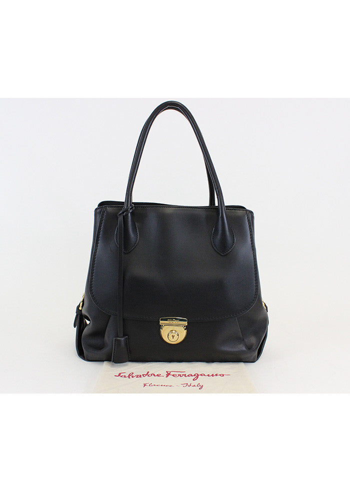 Salvatore Ferragamo <br> North/South Fiamma Tote Bag