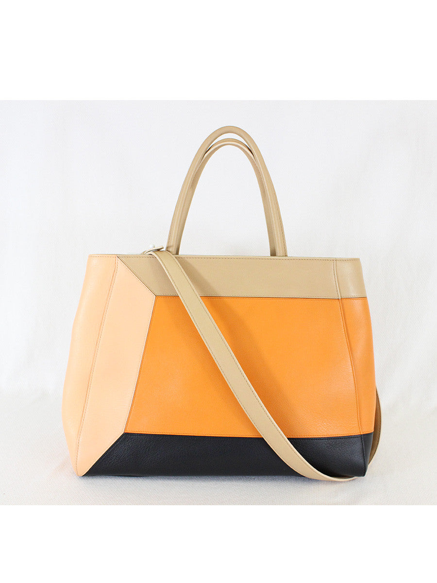 FENDI <br> 2 Jours 3D Colorblock Tote Bag