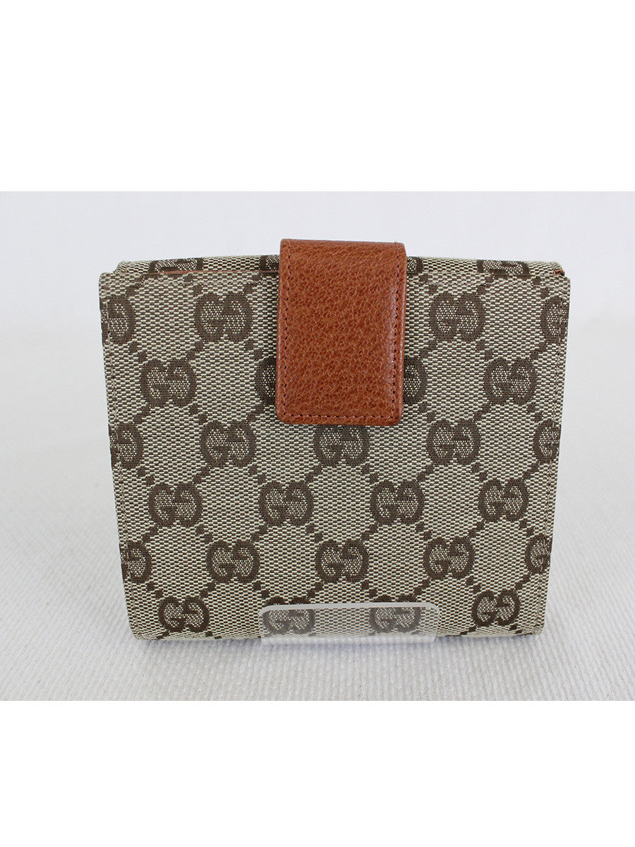 GUCCI <br> GG Canvas Bifold Wallet