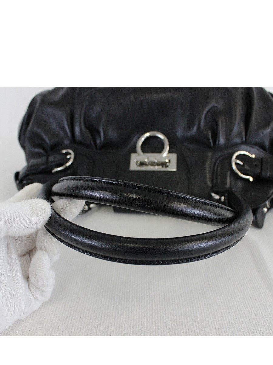 Salvatore Ferragamo <br> Ganchini Leather Bag