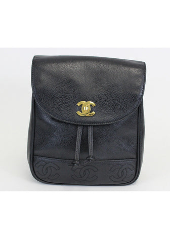 Chanel <br> Vintage CC Logo Backpack