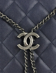 Chanel <br> CC Logo Accordion Bucket Bag