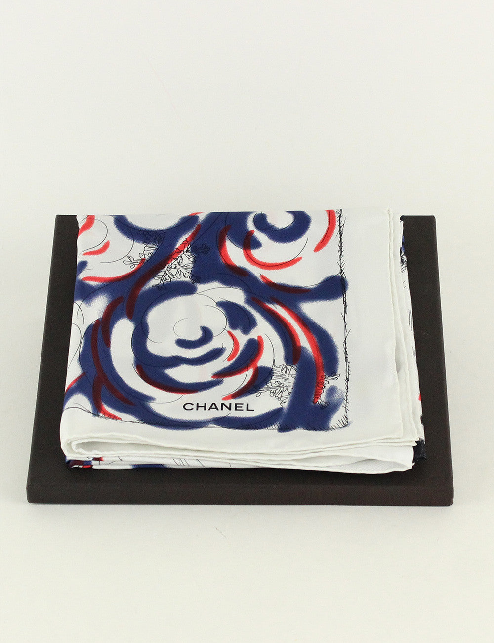 Chanel <br> Polar Bear Silk Scarf