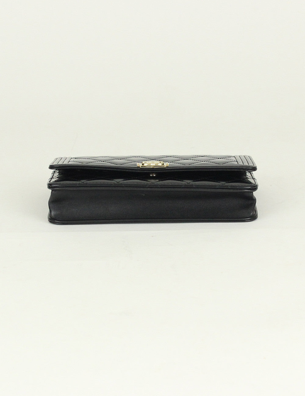 Chanel <br> Quilted Boy Wallet On Chain