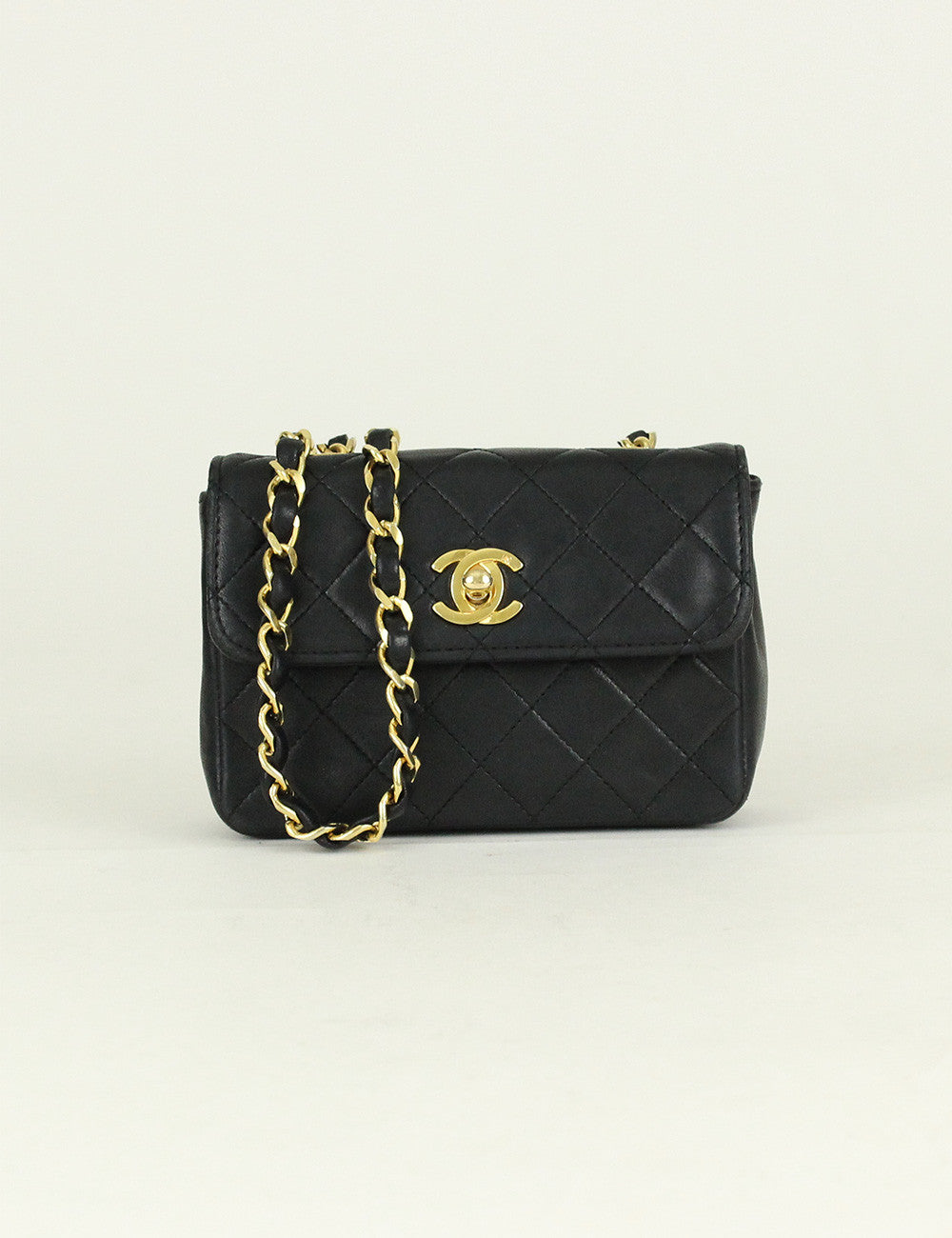 CHANEL <br> Vintage Micro Quilted  Flap Bag