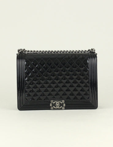 Chanel <br> Quilted Large Boy Flap Bag