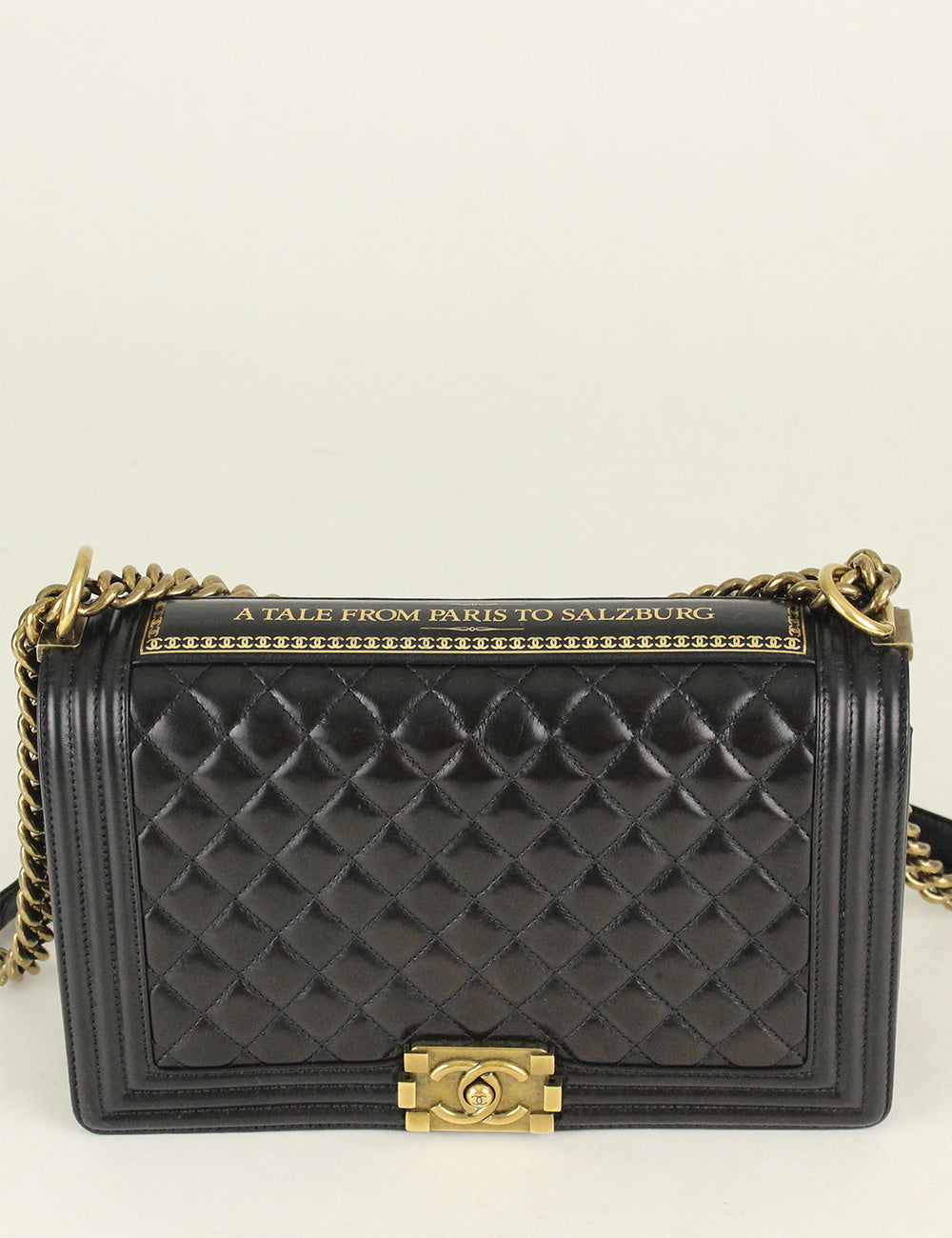 Chanel <br> Quilted Paris Salburg Boy Flap Bag (Limited Edition)