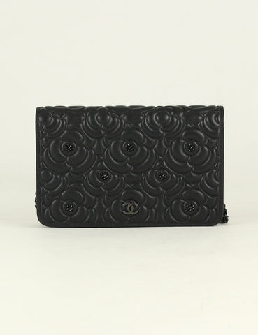 Chanel <br> Rhinestone Camellia Wallet On Chain (Limited Edition)