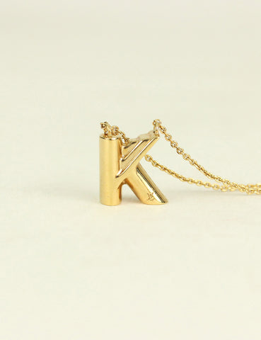 "Louis Vuitton <br> LV & Me Necklace Letter ""K"""