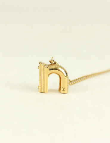 Louis Vuitton <br> LV & Me Necklace Letter N