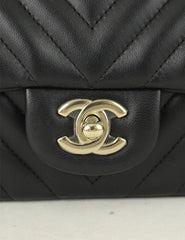 Chanel <br> Chevron Quilted Rectangular Mini Flap bag