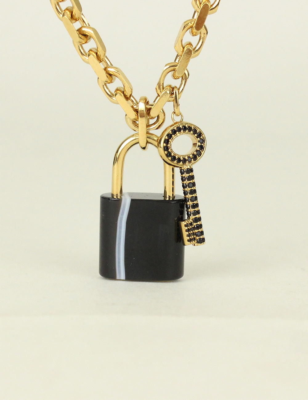 Louis Vuitton <br> Key & Padlock Charm Necklace