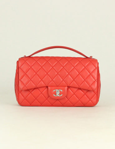 Chanel <br> Quilted Easy Carry Jumbo Flap Bag