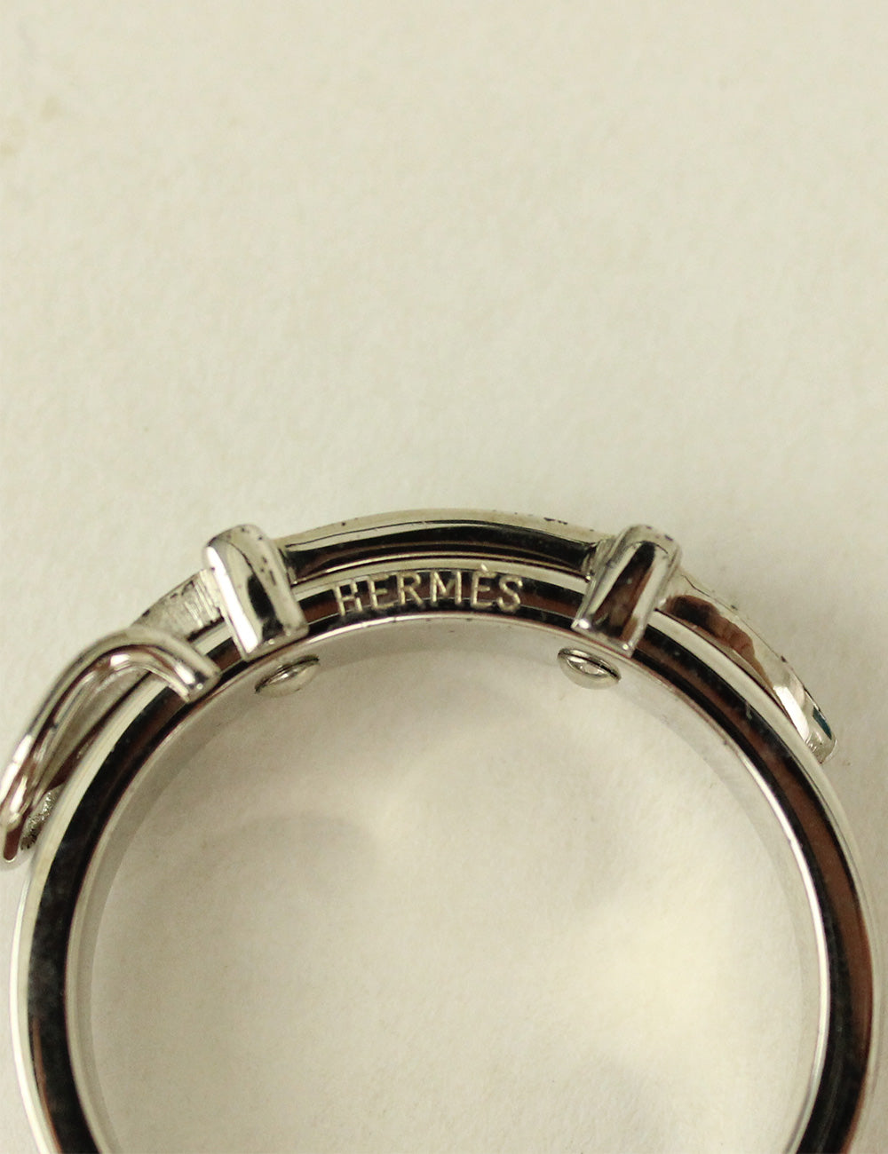 Hermes <br> Belt Buckle Motif Scarf Ring