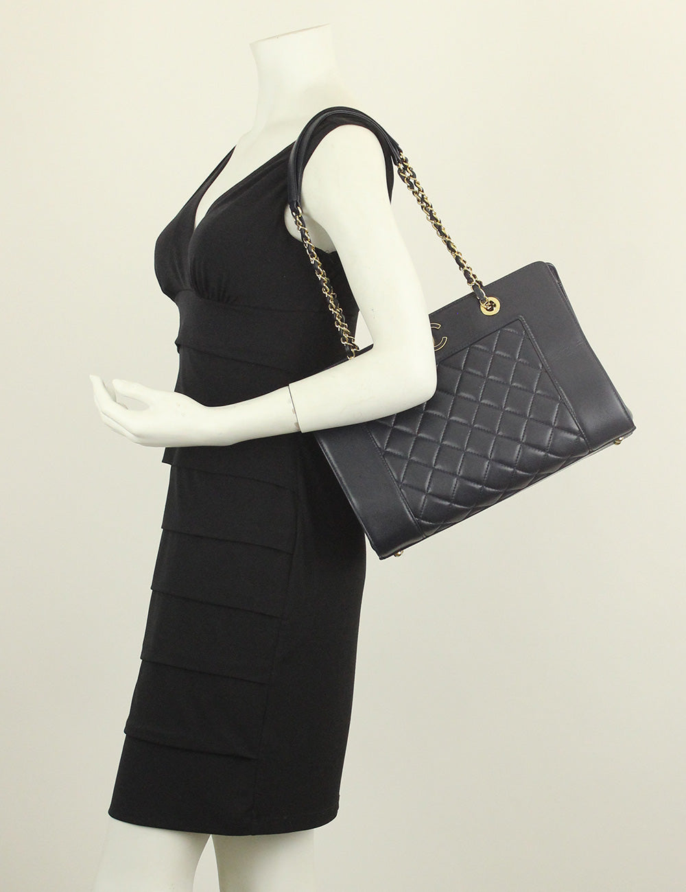 Chanel <br>Quilted Vintage Large Mademoiselle Tote Bag