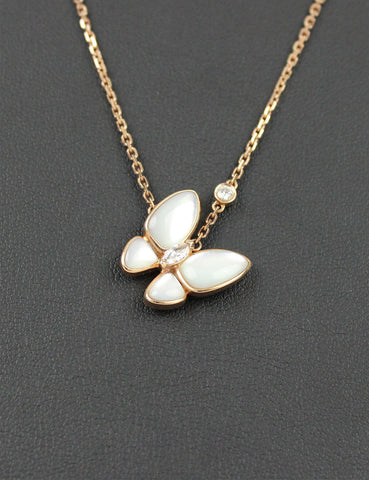 Van Cleef & Arpels <br> Two Butterfly Pendant