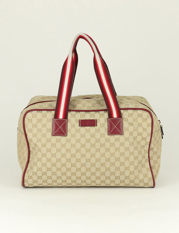 Gucci <br> GG Canvas Carry On Duffel Bag