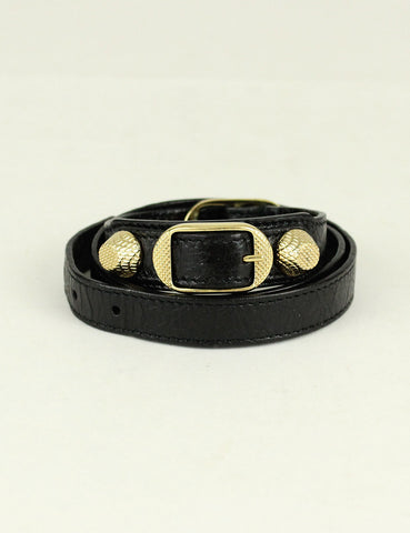 Balenciaga <br> Giant Gold Bracelet Triple Tour