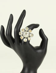 Chanel <br> CC Crystal Flower Ring