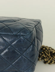 Chanel <br> Quilted Castle Rock top Handle Flap Bag