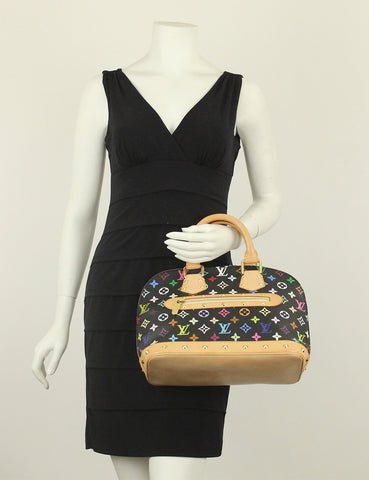 Louis Vuitton <br> Multicolore Black Alma PM Bag