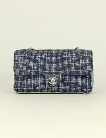 Chanel <br> Quilted Tweed Medium Single Flap Bag