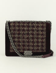 Chanel <br> Large Paris-Edinburgh Tweed Boy Large Flap Bag