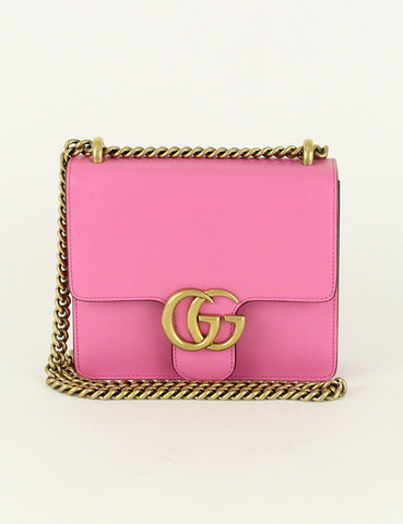 Gucci <br> GG Marmont Small Leather Shoulder Bag
