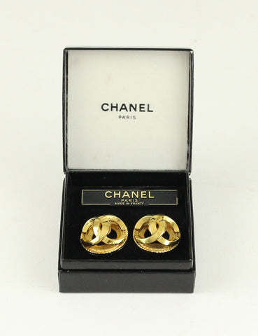 Chanel <br> Vintage CC Logo Clip Earrings