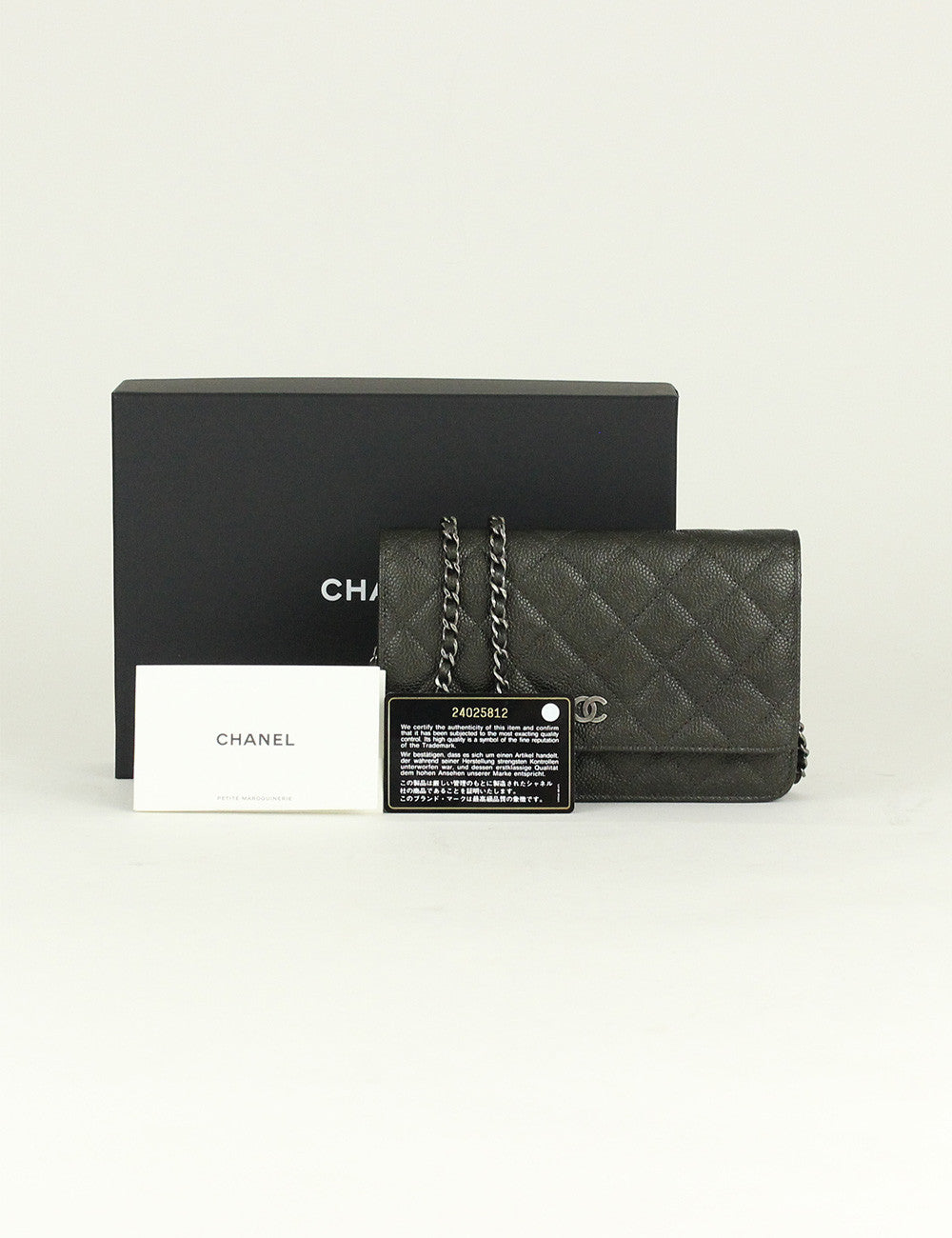 Chanel <br> Classic Quilted Wallet On Chain