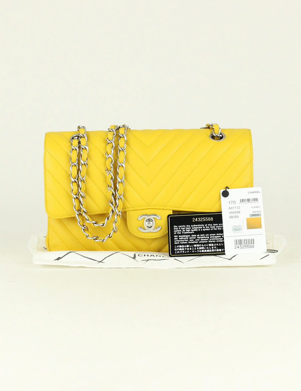 Chanel <br> Chevron Medium Double Flap Bag