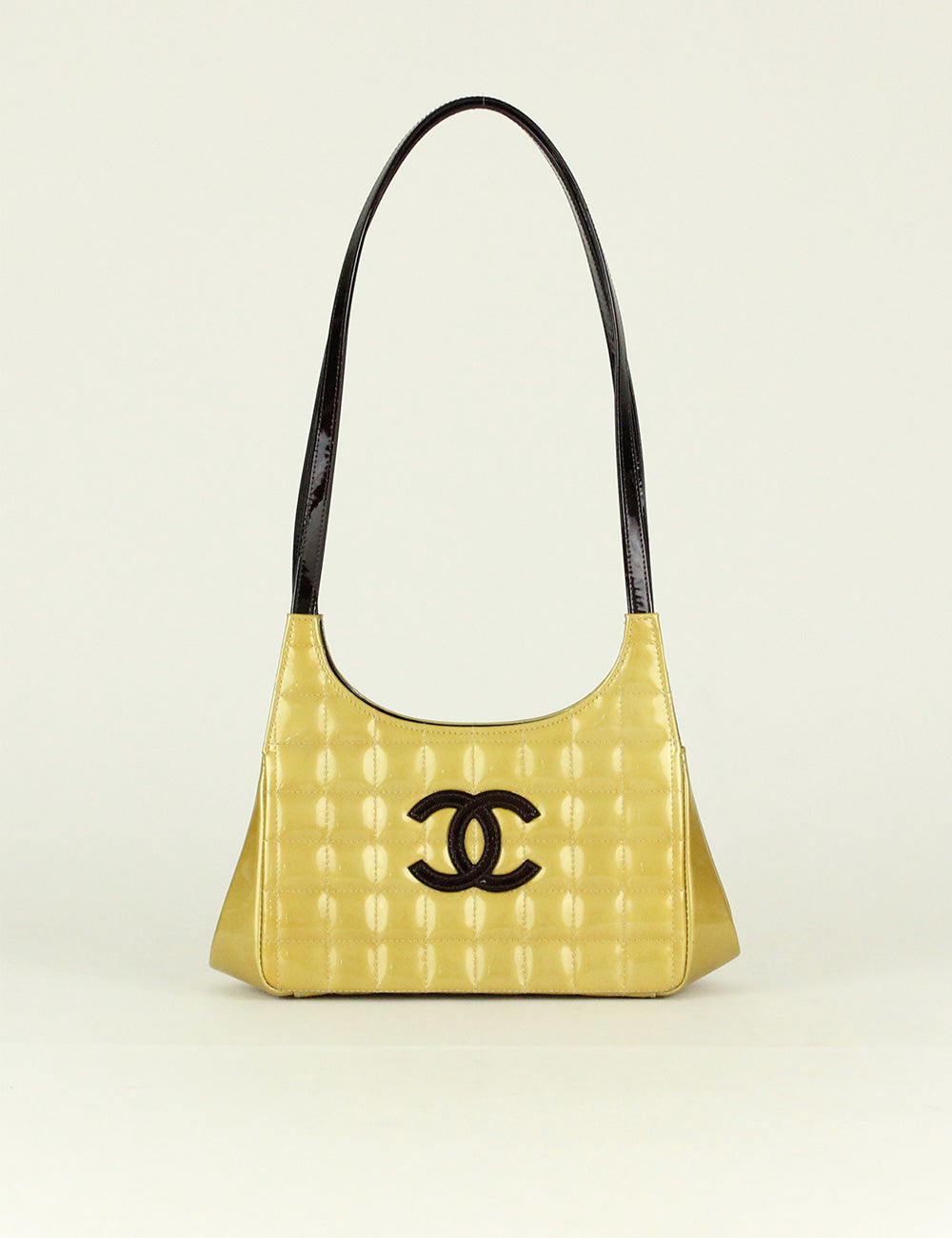 Chanel <br> CC Logo Chocolate Bar Shoulder Bag