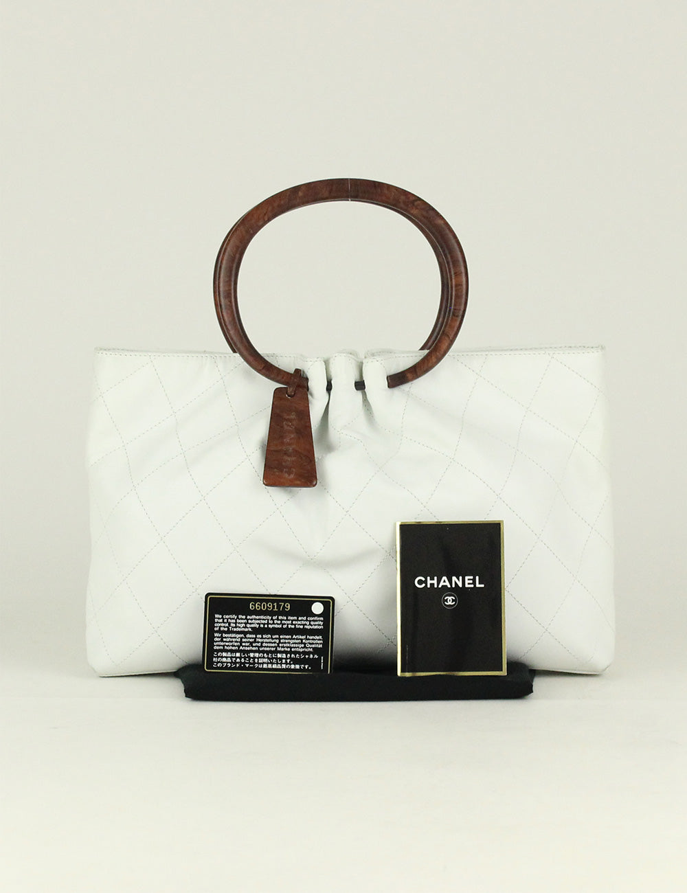 Chanel <br> Quilted Wood Top Handle Bag