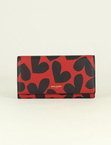 Yves Saint Laurent <br> Continental Heart Flap Wallet