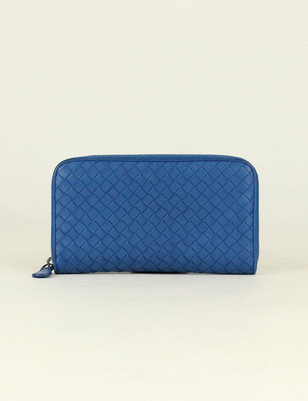 Bottega Veneta <br> Intrecciato Zip Around Wallet