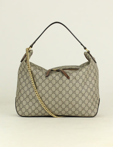 GUCCI <br> GG Supreme Large Hobo Bag