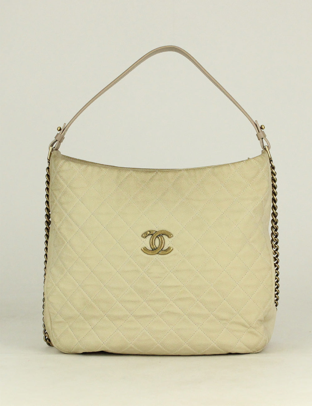 Chanel <br> Quilted CC Logo Hobo Bag