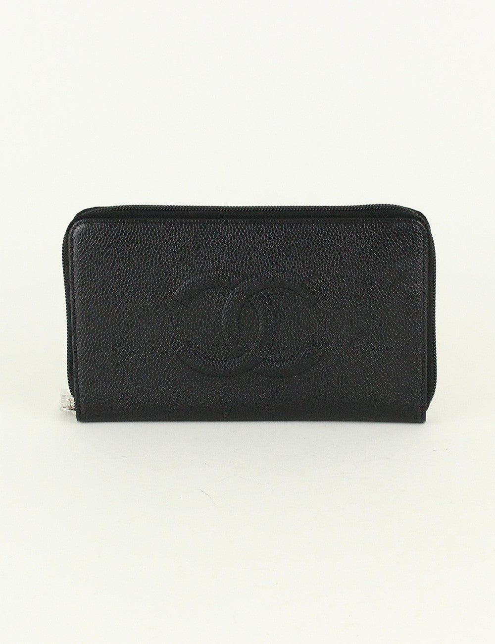 Chanel <br> CC Large Zip Wallet