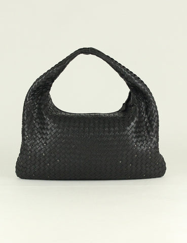 BOTTEGA VENETA <br> Intrecciate Woven Nappa Grommet Large Hobo Bag