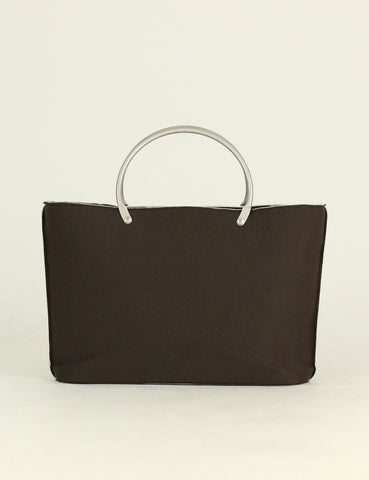 Chanel <br> Fabric Metal Handles Small Tote Bag