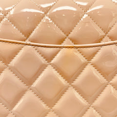 Chanel <br> Classic Patent Quilted Jumbo Double Flap Bag Light Pink